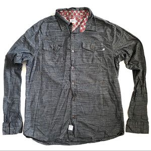 LOST Grey long sleeve button down